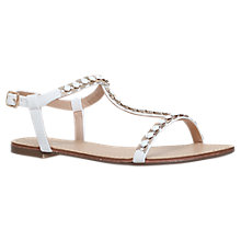 Buy Carvela Blaze T-Bar Embellished Sandals, White Online at johnlewis.com