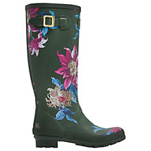 Buy Joules Tall Floral Print Wellington Boots, Olive Online at johnlewis.com