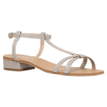 Buy Carvela Bravo Flat Sandals, Gold Online at johnlewis.com