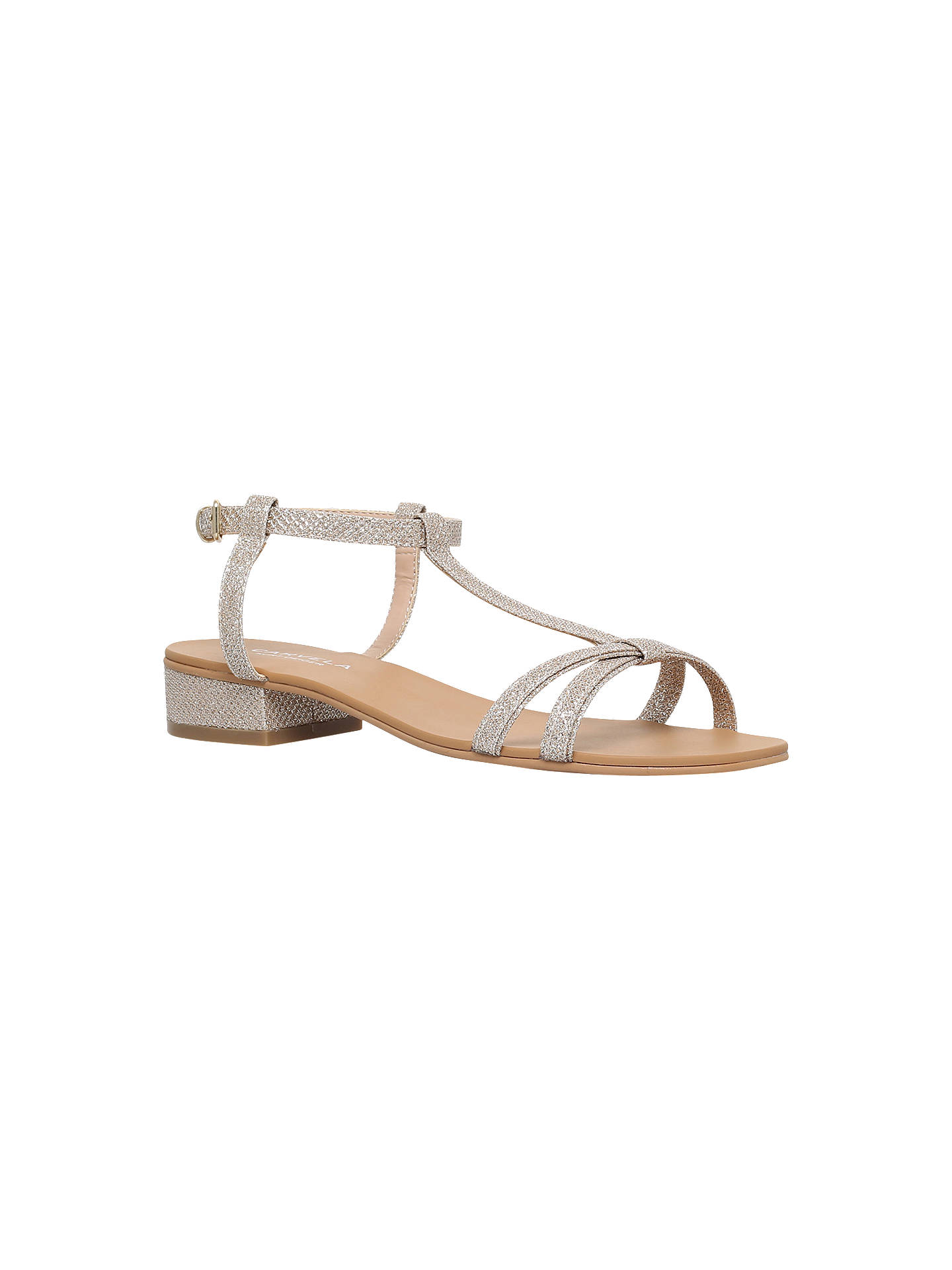 017b42083 Buy Carvela Bravo Flat Sandals, Gold, 3 Online at johnlewis.com ...