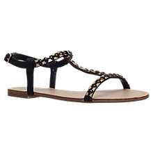 Buy Carvela Blaze T-Bar Sandals, Black Online at johnlewis.com
