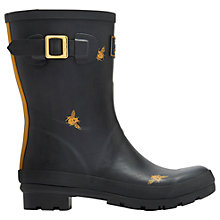 Buy Joules Mid Molly Bee Wellington Boots, Black Online at johnlewis.com