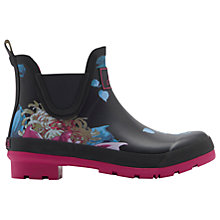Buy Joules Wellibob Ankle High Wellington Boots, Black Online at johnlewis.com