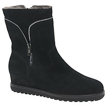 Buy Gabor Conway Wedge Ankle Boots, Black Online at johnlewis.com