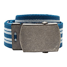 Buy John Lewis Stripe Belt, Teal Online at johnlewis.com