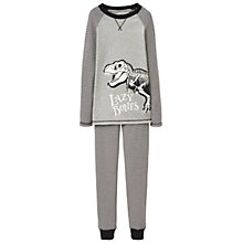Buy Little Joule Children's Glow In The Dark Dinosaur Pyjamas, Grey Online at johnlewis.com