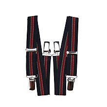 Buy John Lewis Boys' Fully Adjustable Stripe Braces, One size, Red/Blue Online at johnlewis.com