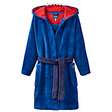 Buy Little Joule Children's Junior Mark Dino Dressing Gown, Multi Online at johnlewis.com