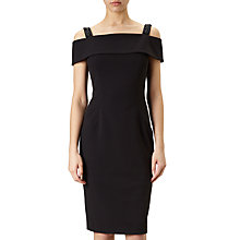 Buy Adrianna Papell Off Shoulder Cocktail Dress, Black Online at johnlewis.com