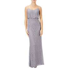 Buy Adrianna Papell Petite Signature Lace Blouson Gown, Light Dove Online at johnlewis.com