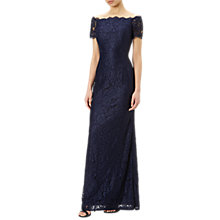 Buy Adrianna Papell Off Shoulder Lace Gown, Midnight Online at johnlewis.com