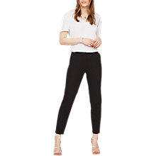 Buy Miss Selfridge Cigarette Trousers, Black Online at johnlewis.com