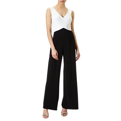 Adrianna Papell Matte Jersey Jumpsuit, Ivory/Black