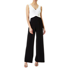 Buy Adrianna Papell Matte Jersey Jumpsuit, Ivory/Black Online at johnlewis.com