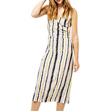 Buy Warehouse Dash Stripe Wrap Dress, Multi Online at johnlewis.com