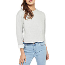 Buy Miss Selfridge Cropped Sweatshirt, Grey Online at johnlewis.com