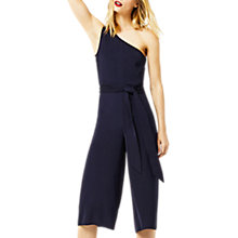Buy Warehouse One Shoulder Jumpsuit, Navy Online at johnlewis.com