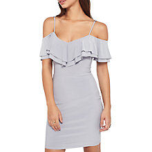 Buy Miss Selfridge Frill Cold Shoulder Dress Online at johnlewis.com