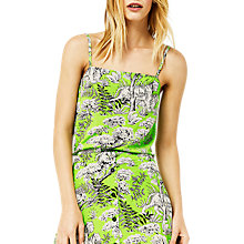 Buy Warehouse Tiger Print Cami, Green Online at johnlewis.com