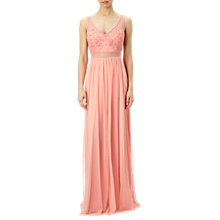 Buy Adrianna Papell Sleeveless Beaded Bodice Gown, Coral Reef Online at johnlewis.com