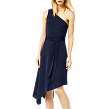 Buy Warehouse One Shoulder Dress, Navy Online at johnlewis.com