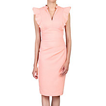 Buy Jolie Moi Frill Shoulder V-Neck Dress Online at johnlewis.com