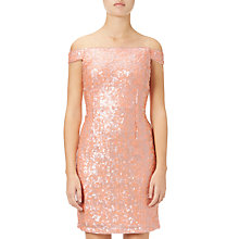 Buy Adrianna Papell Off Shoulder Beaded Cocktail Dress, Desert Flower Online at johnlewis.com