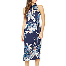Buy Miss Selfridge Mandarin Collar Dress, Navy Online at johnlewis.com