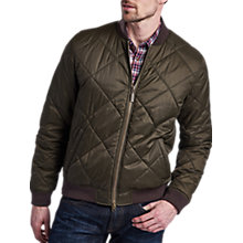 Buy Barbour International Steve McQueen Bomber Quilted Jacket, Green Online at johnlewis.com
