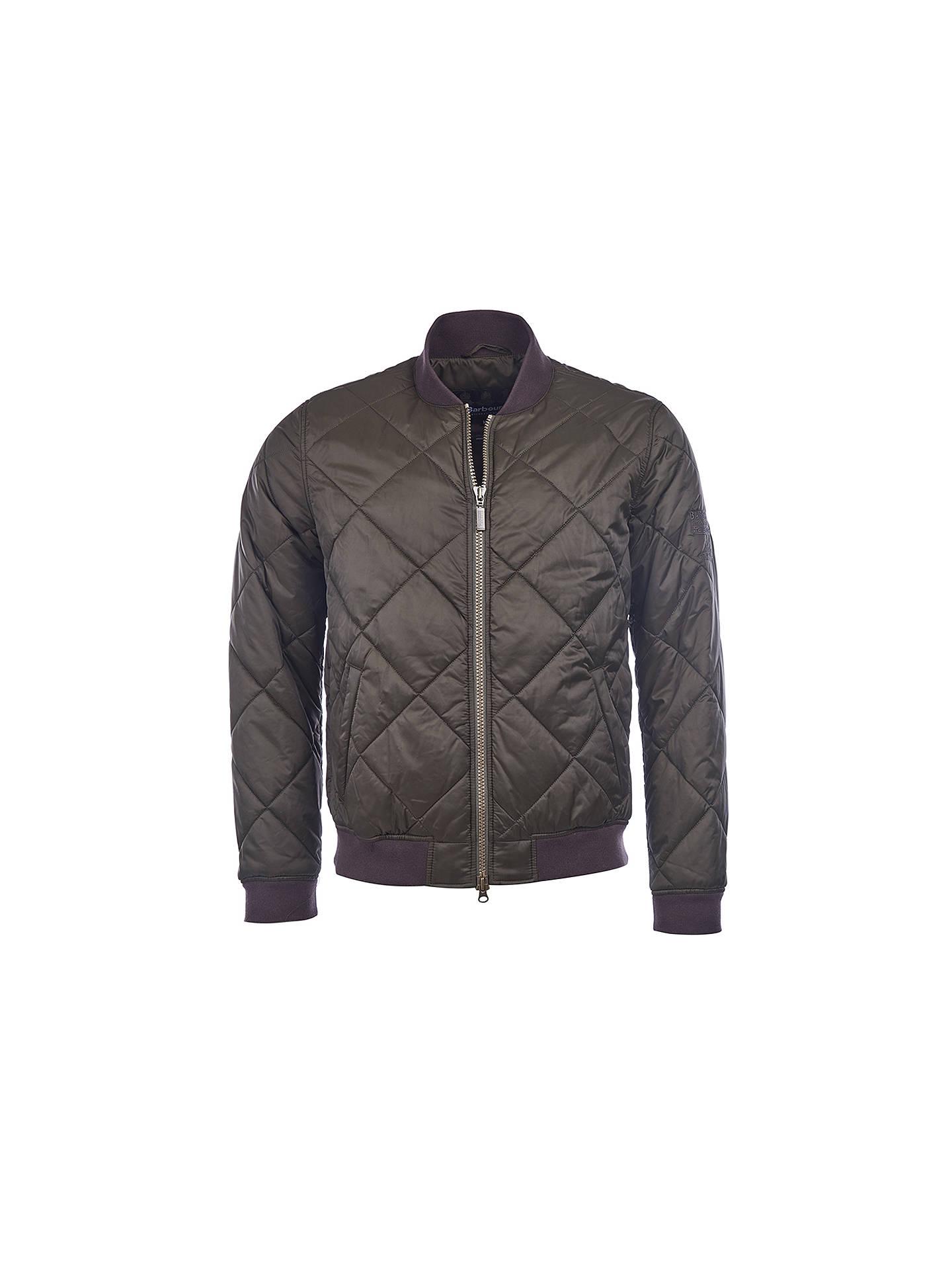 Barbour International Steve Mcqueen Bomber Quilted Jacket