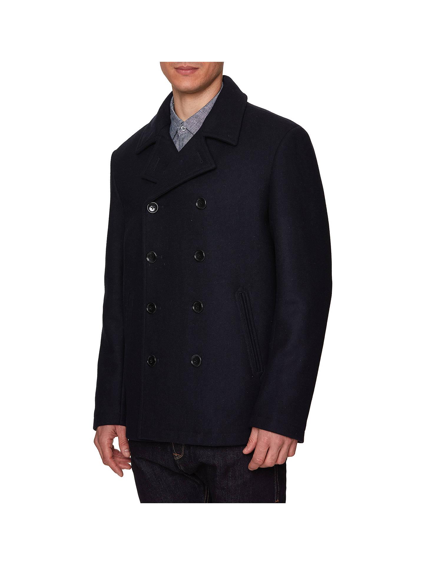 pretty and colorful unique design provide large selection of Original Penguin Wool Blend Pea Coat, Dark Sapphire at John ...