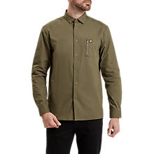 Buy Lyle & Scott Zip Pocket Shirt, Olive Online at johnlewis.com