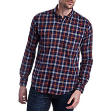 Buy Barbour International Julian Long Sleeve Shirt, Navy Online at johnlewis.com