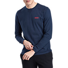 Buy Barbour International Long Sleeve Logo T-Shirt, Navy Online at johnlewis.com