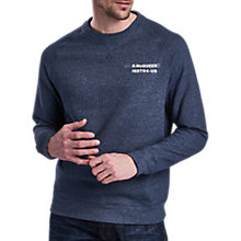 Buy Barbour International Issue Crew Neck Jumper, Navy Online at johnlewis.com