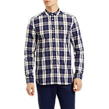 Buy Lyle & Scott Poplin Check Shirt, Off White Online at johnlewis.com
