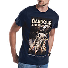 Buy Barbour International Shift T-Shirt, Navy Online at johnlewis.com