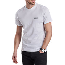 Buy Barbour International Small Logo T-Shirt, White Online at johnlewis.com