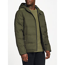 Buy Original Penguin Insulated Melange Puffer Jacket, Forest Night Heather Online at johnlewis.com