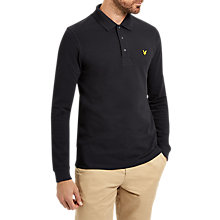 Buy Lyle & Scott Long Sleeve Plain Pique Polo Shirt Online at johnlewis.com
