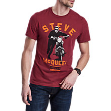 Buy Barbour  International Varsity Steve T-Shirt, Cordovan Online at johnlewis.com
