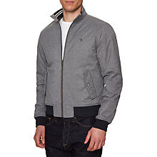 Buy Original Penguin Heathered Harrington Jacket, Steel Grey Online at johnlewis.com