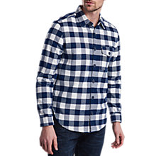 Buy Barbour Hinge Overshirt, Navy Online at johnlewis.com