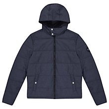 Buy Original Penguin Insulated Melange Puffer Jacket, Dark Sapphire Heather Online at johnlewis.com