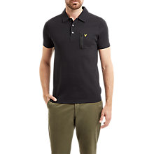 Buy Lyle & Scott Zip Pocket Polo Top, True Black Online at johnlewis.com
