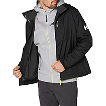Buy Helly Hansen Crew Hooded Midlayer Waterproof Men's Jacket, Black Online at johnlewis.com