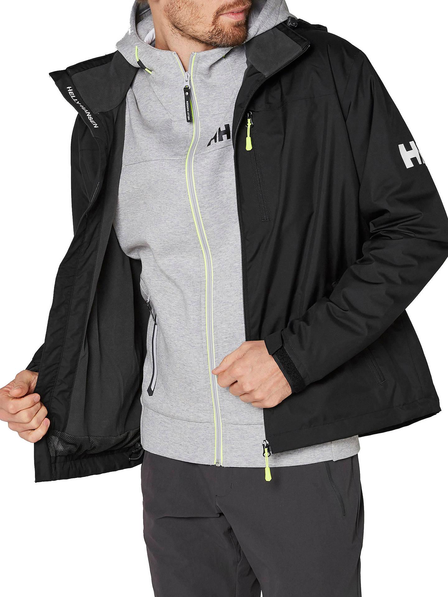 fd7db86b6 Helly Hansen Crew Hooded Midlayer Waterproof Men's Jacket, Black at ...