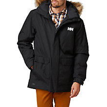 Buy Helly Hansen Dubliner Waterproof Insulated Men's Parka Jacket, Black Online at johnlewis.com