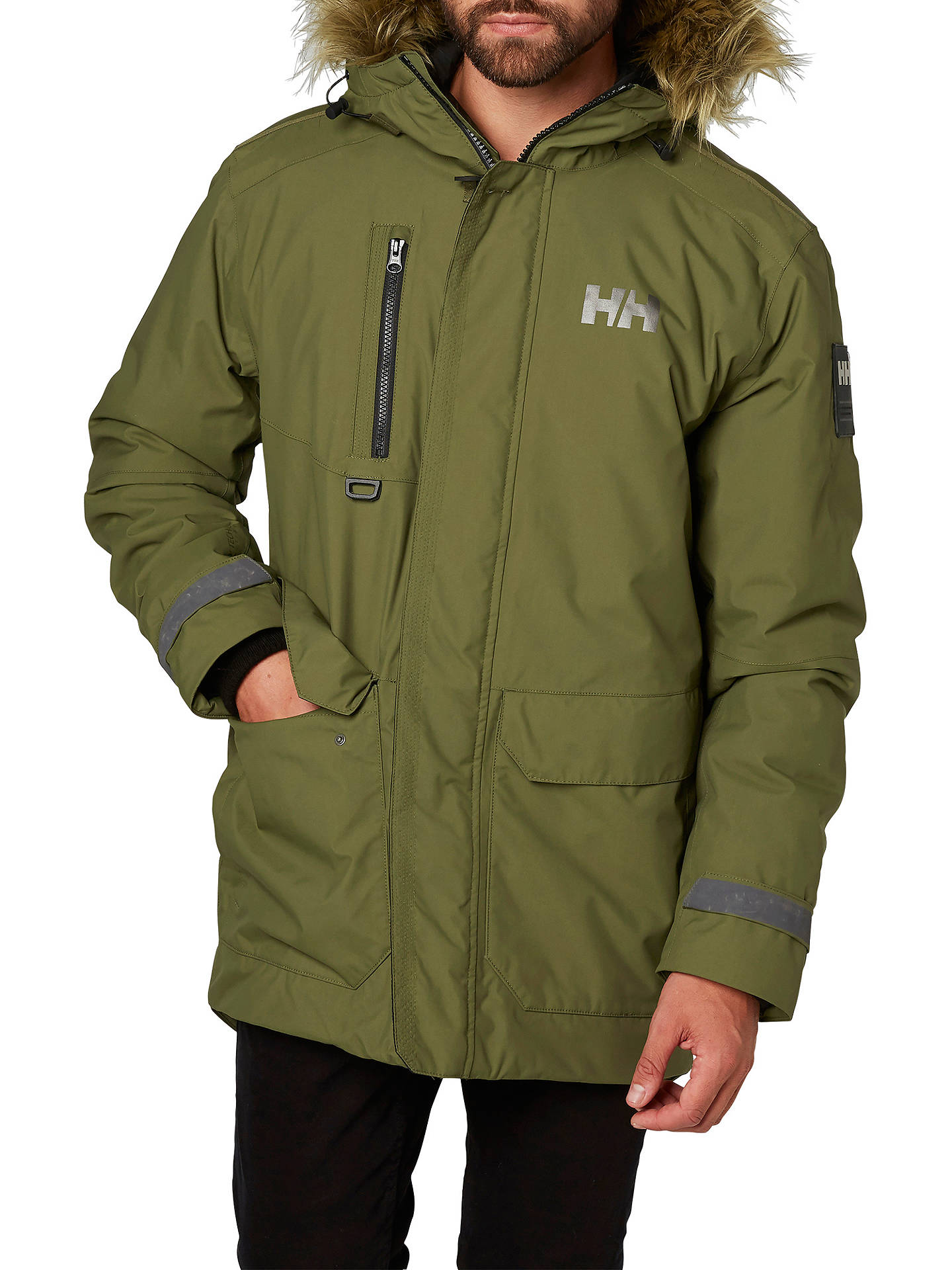 943031ff Buy Helly Hansen Svalbard Waterproof Parka Jacket, Green, S Online at  johnlewis.com ...