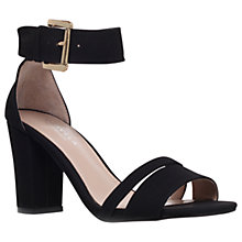 Buy Carvela Carly Block Heeled Sandals, Black Online at johnlewis.com